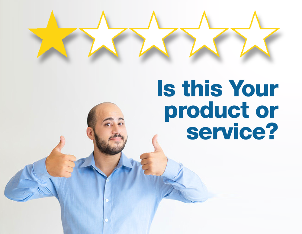 One-star Rating - Is this your product or service?