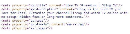 Sling TV Meta
